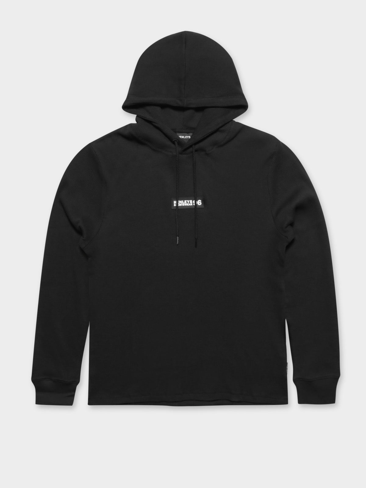 Newman Long Sleeve Hooded T-Shirt in Black
