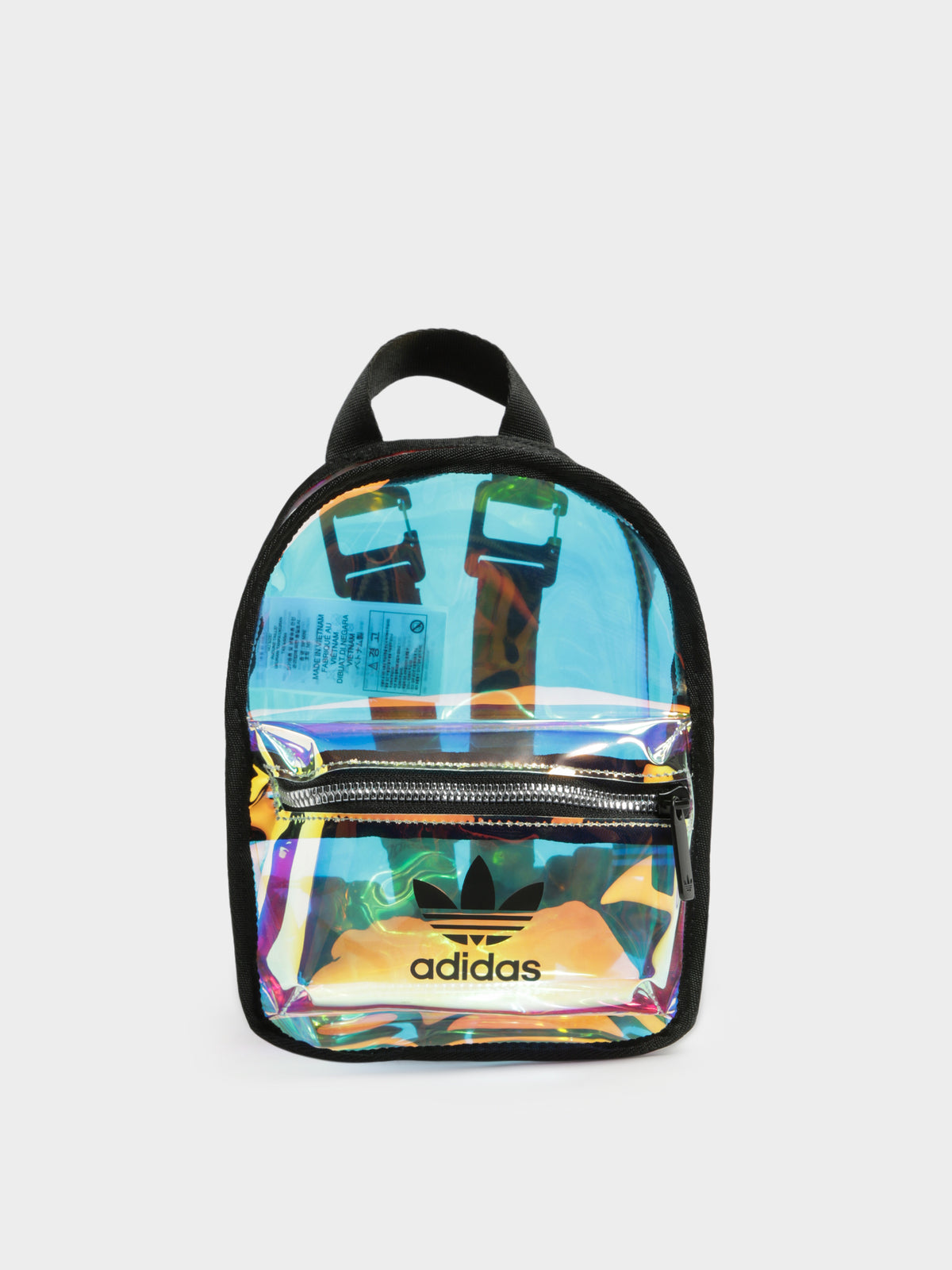 Iridescent Mini Backpack in Clear