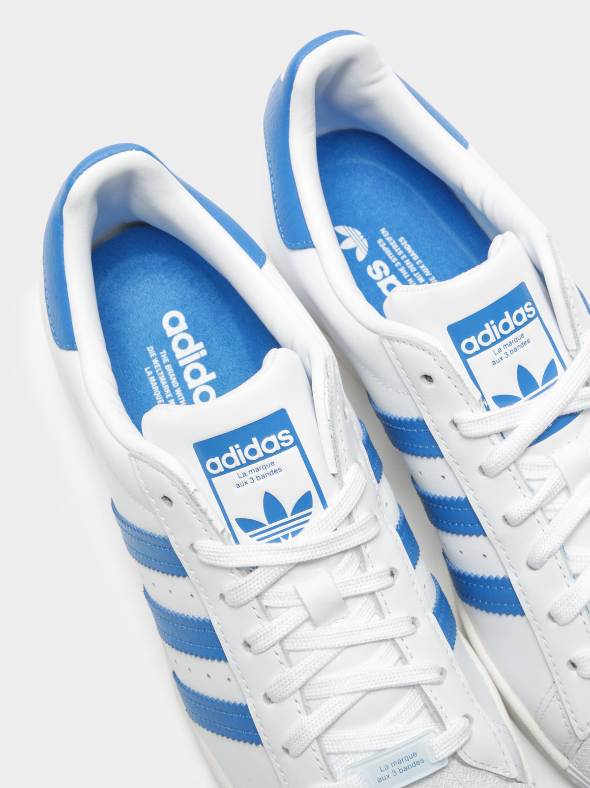 Unisex Superstar Sneakers in White and Blue