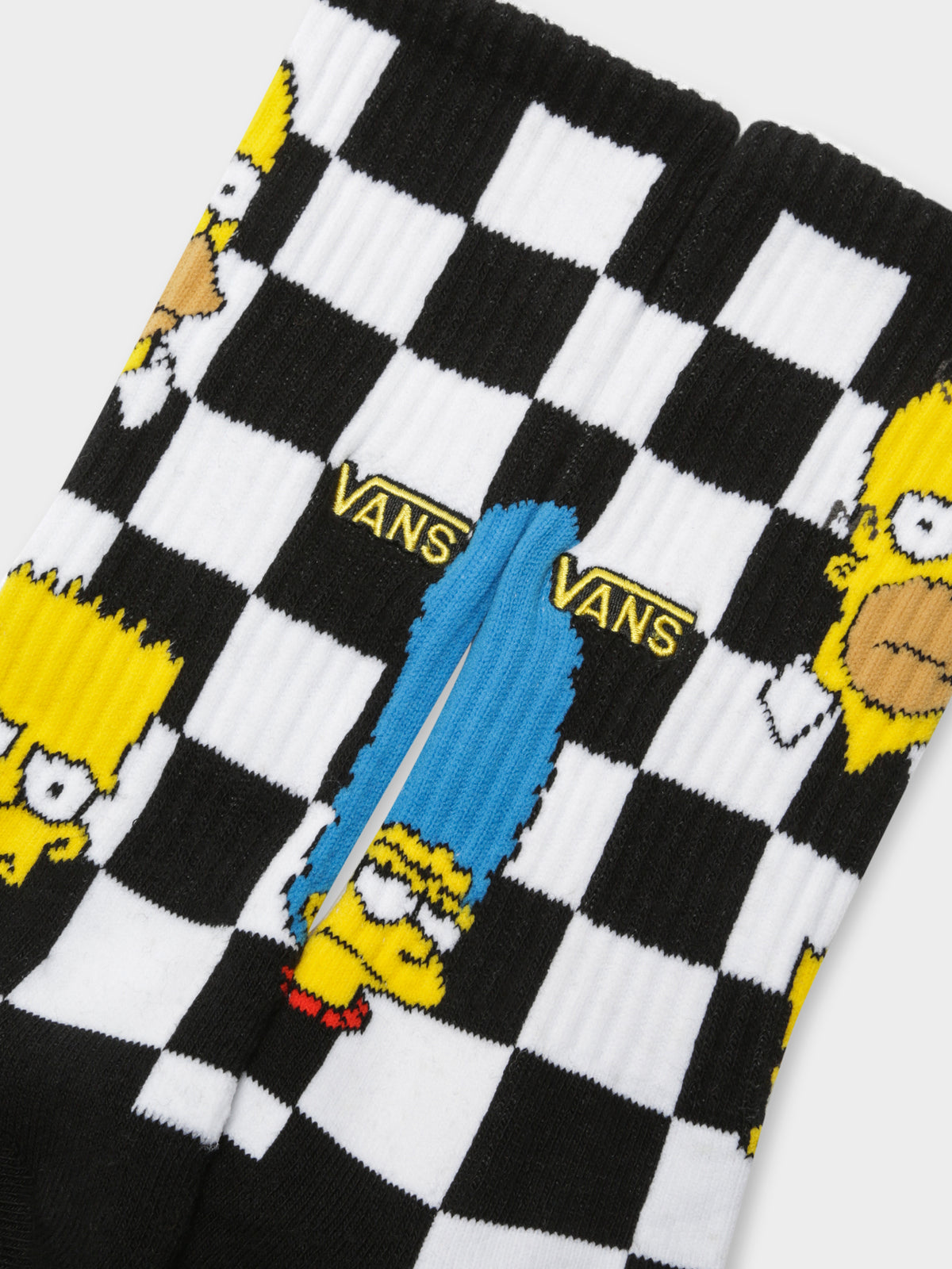 The Simpsons x Vans Crew Socks in Family Check
