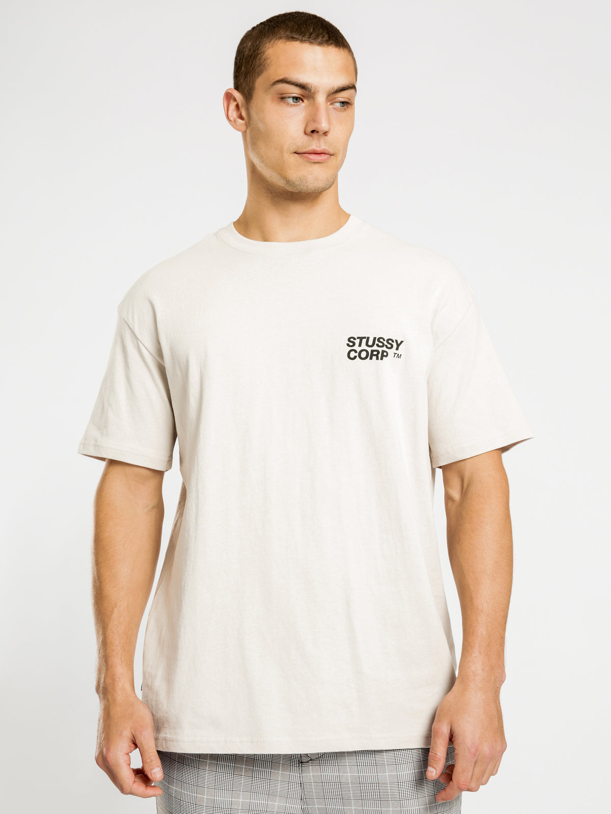 Corp Short Sleeve T-Shirt in White Sand