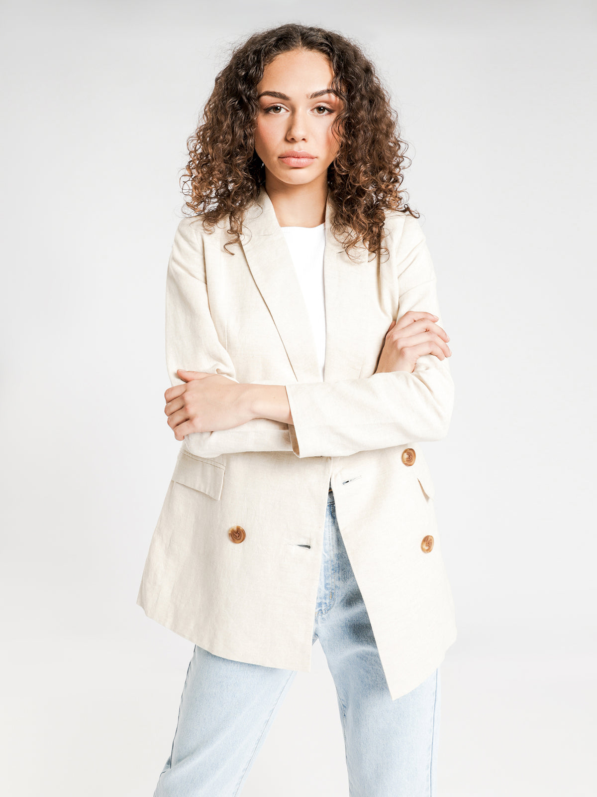 Wren Blazer in Natural
