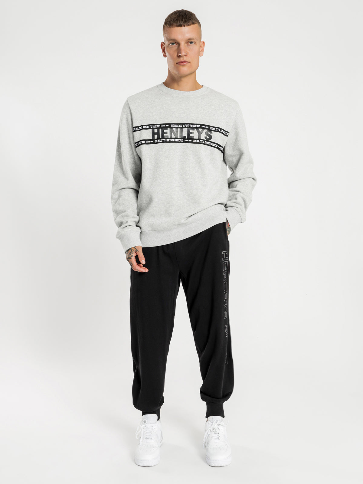Marsh Crew Jumper in Grey