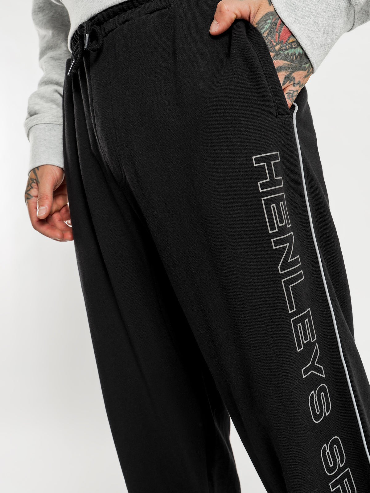 Garth Track Pants in Black
