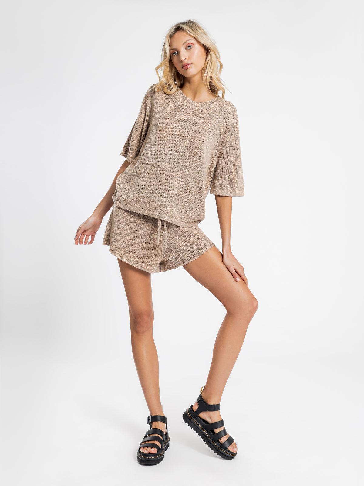 Asha Knit T-Shirt in Mocha