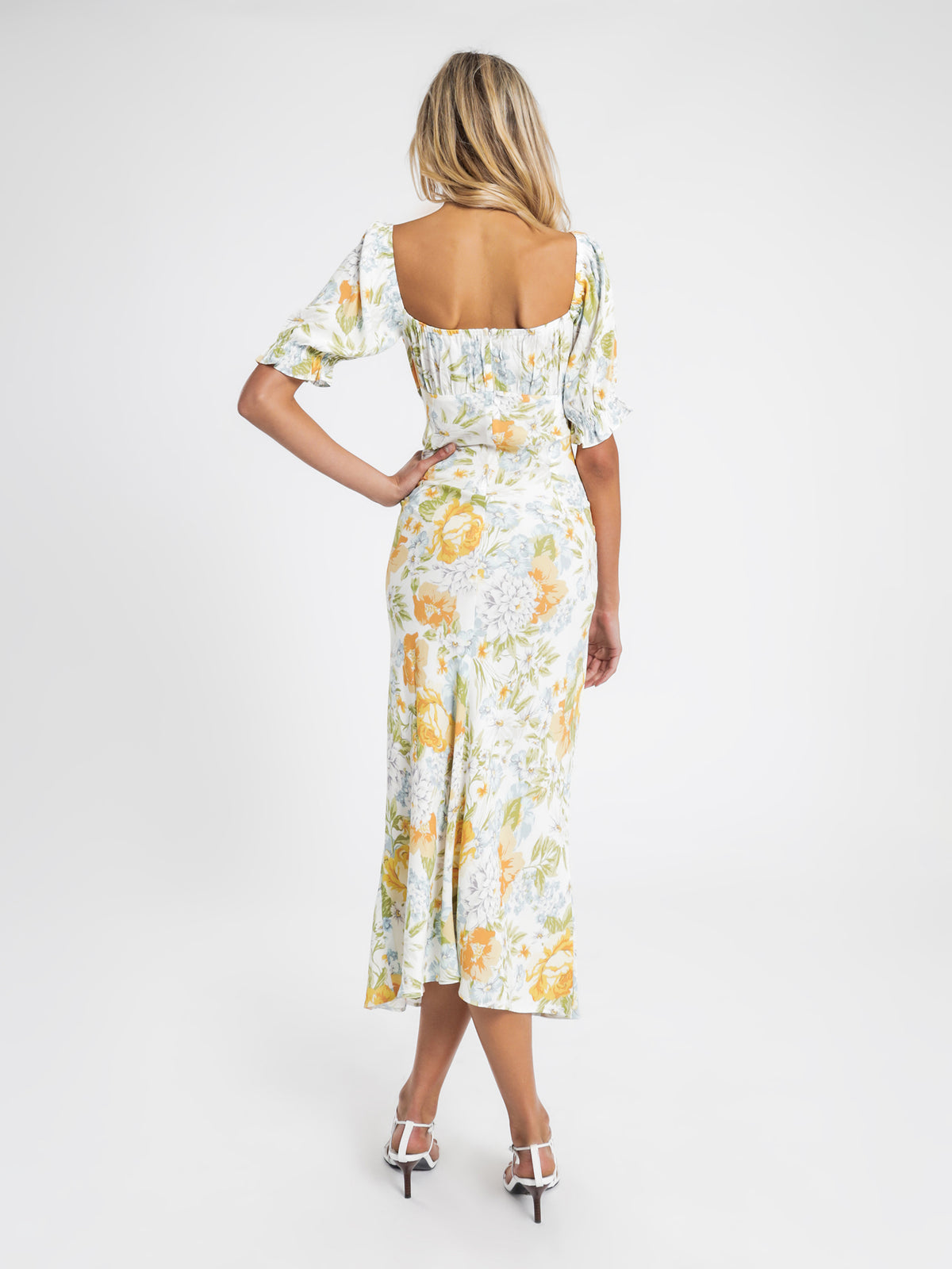 Corinne Midi Dress in Valencia Print