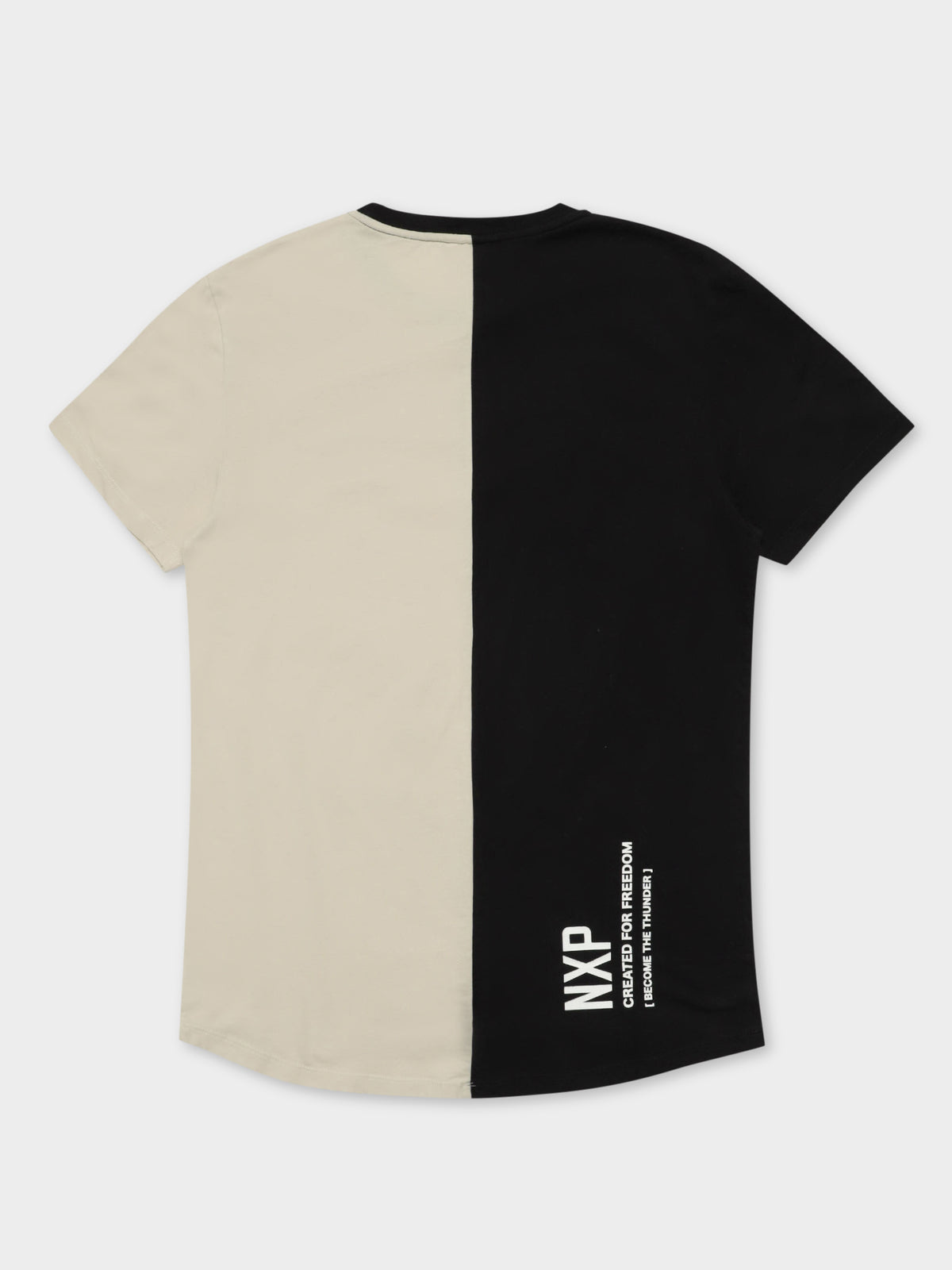 Interlagos T-Shirt in Black & Beige