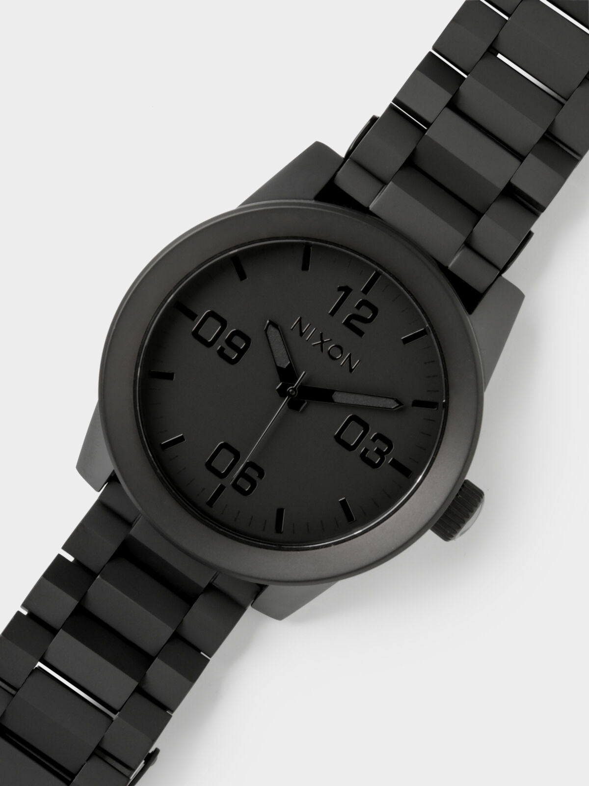 Coroporal 48mm Analogue Watch in Matte Black