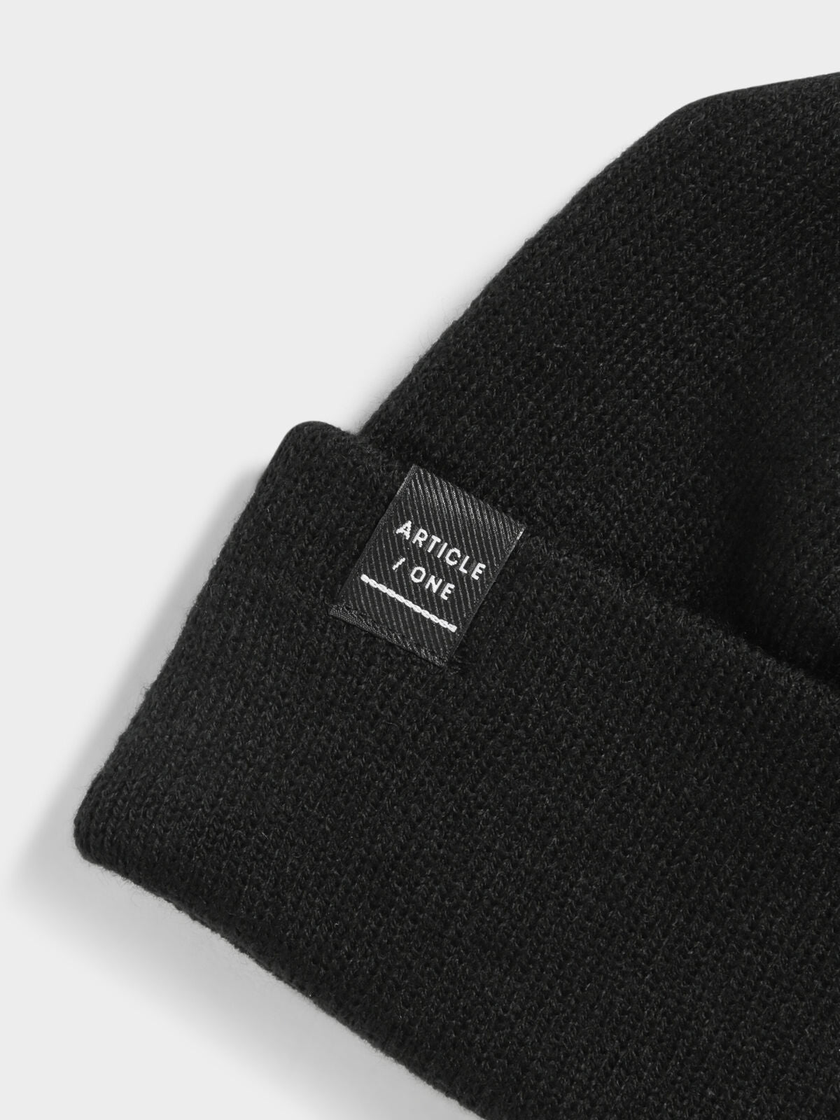 Classic Knit Beanie in Black