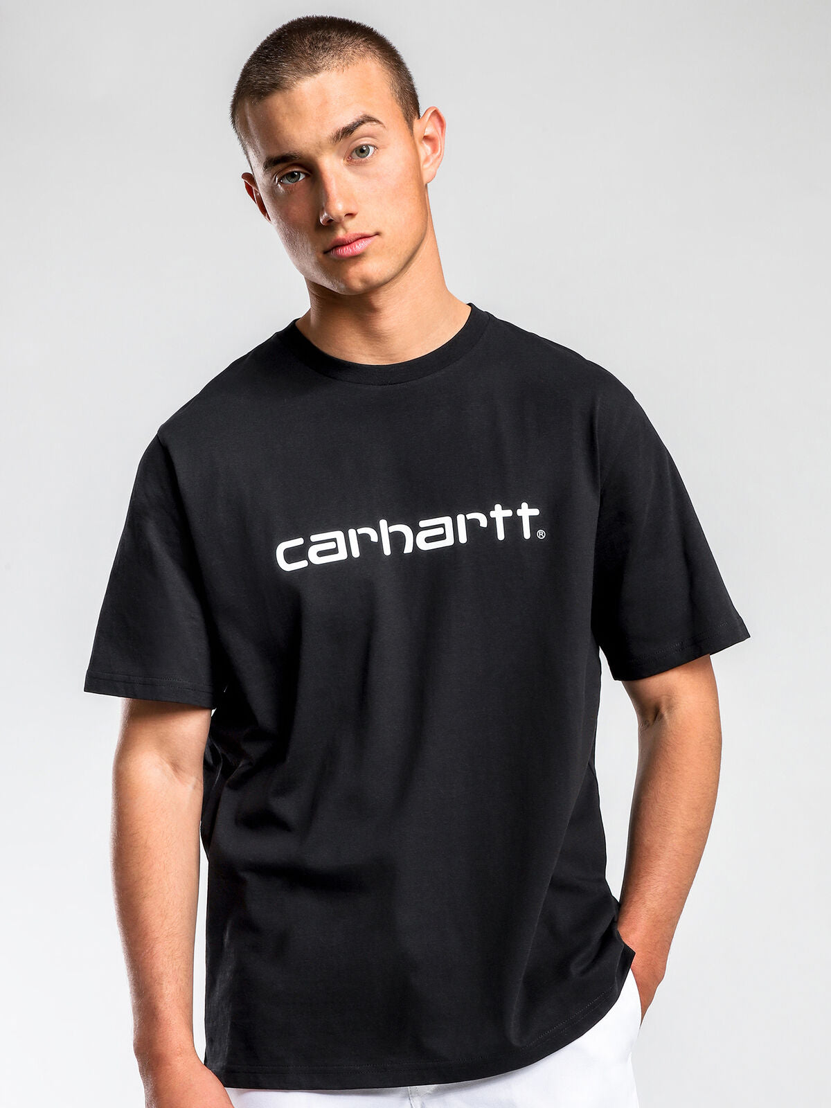 Script Short Sleeve T-Shirt in Black