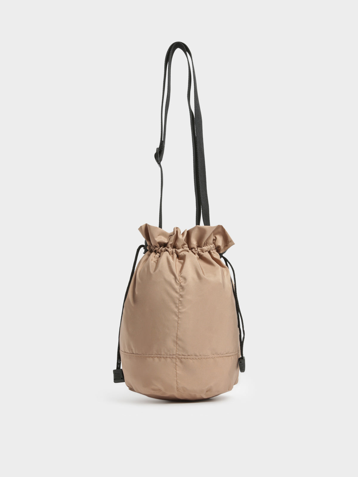 Crushable Barrel Bag in Taupe