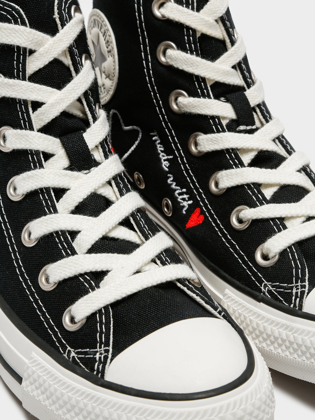 Unisex Made With Love Chuck Taylor All Star High Top Sneakers in Black