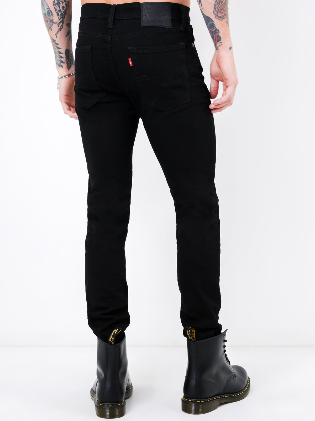 510 Skinny Fit Jeans in Nightshine Black Denim