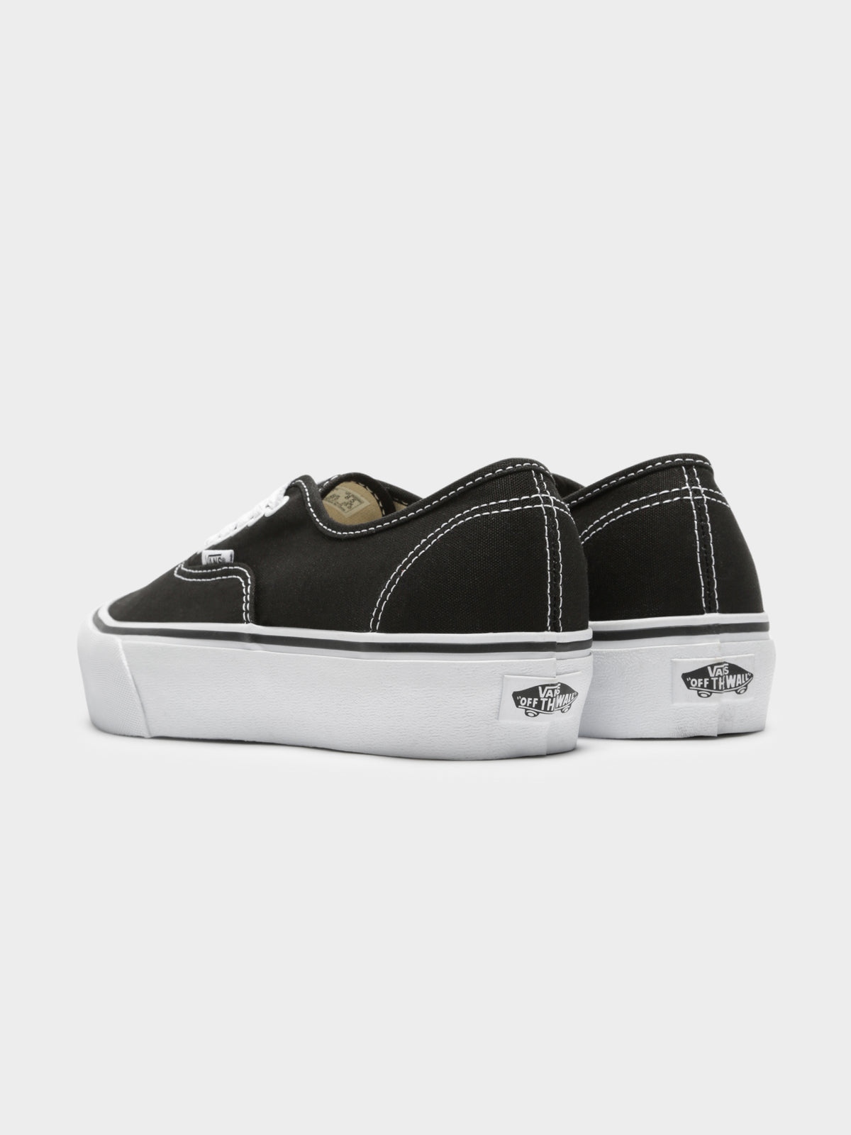 Womens Authentic Platform Sneakers in Black