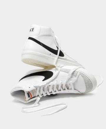 Womens Blazer Mid 77 High Top Sneakers in Black & White