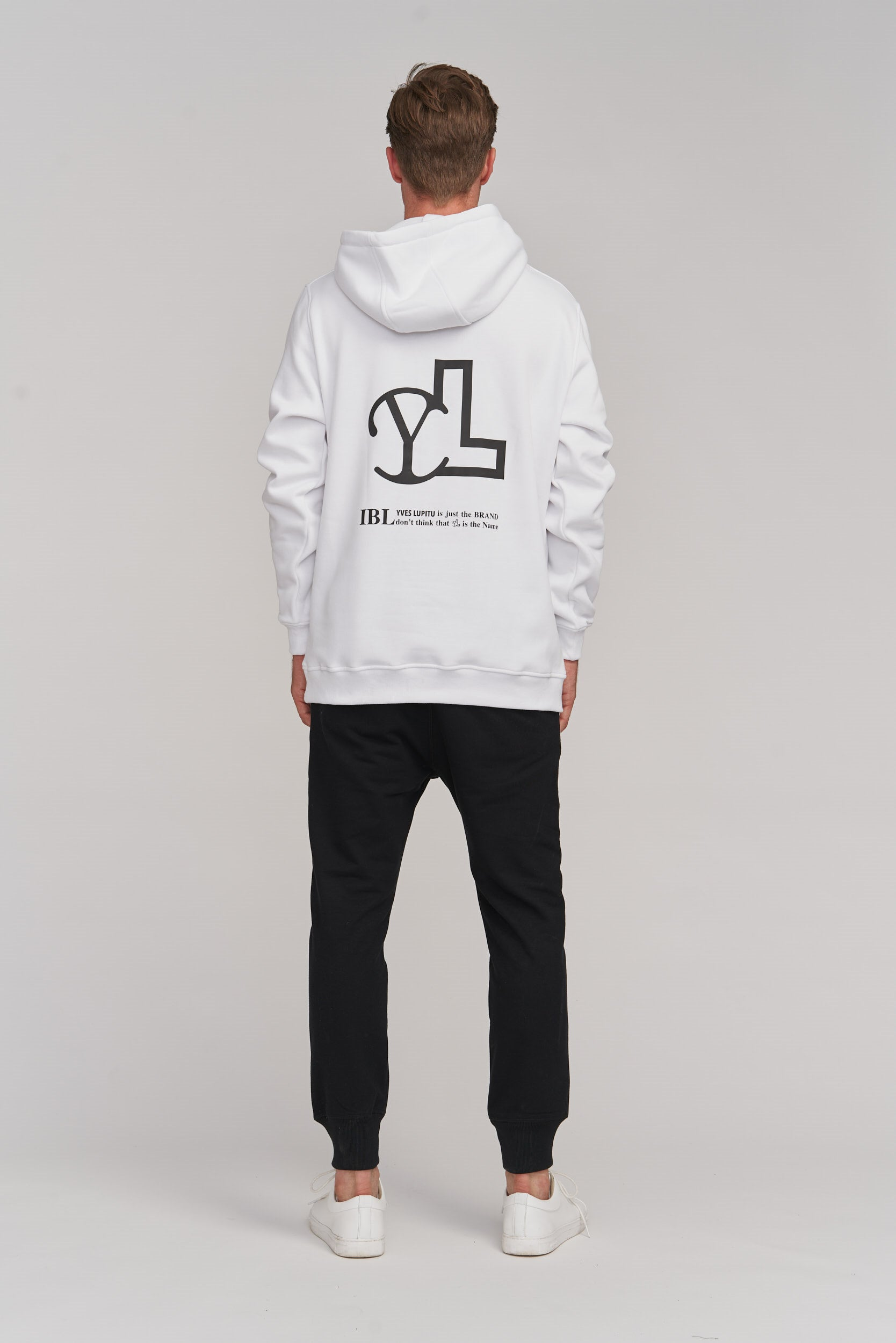 WHITE HOODIE YL SMALL