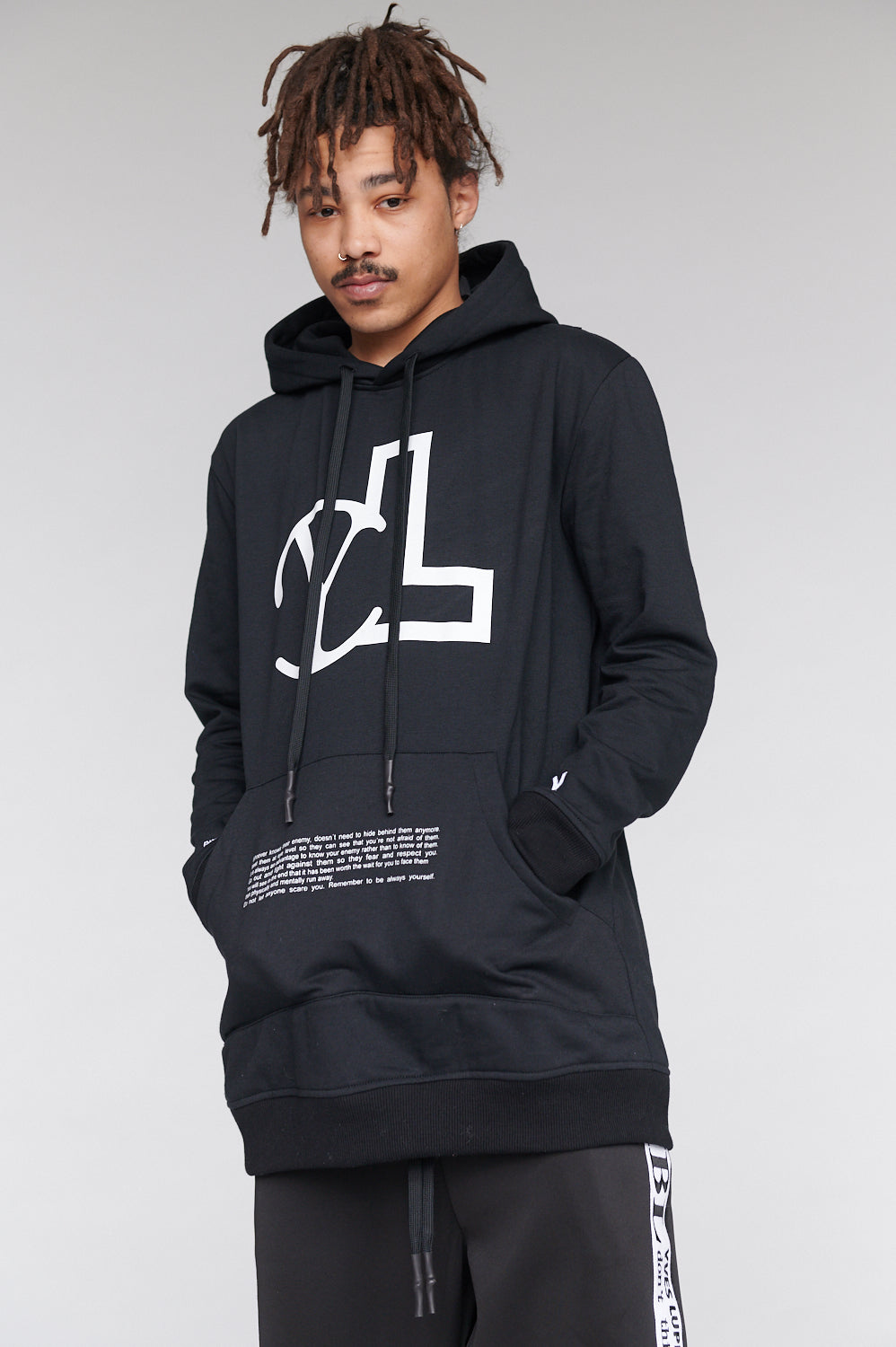 YL ENEMY TEXT BLACK HOODIE