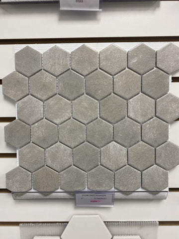 Stone Grey Hexagon 2""