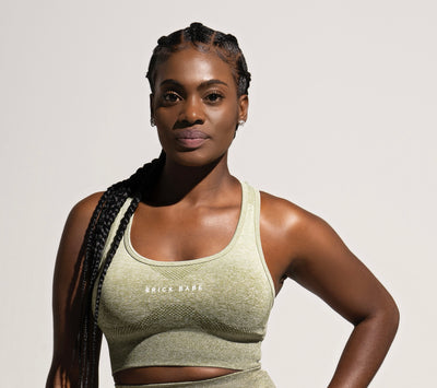 Seamless Ombre Sports Bra- Olive