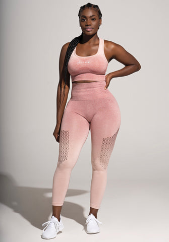 Seamless Ombre leggings- Coral