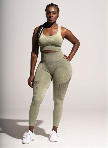 Seamless Ombre leggings- Olive