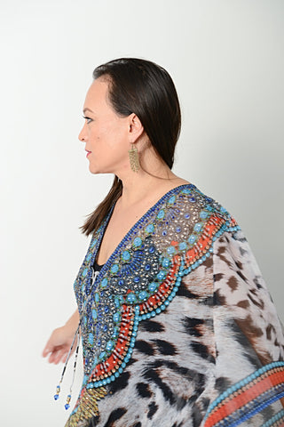 EXOTIC CHEETAH KAFTAN