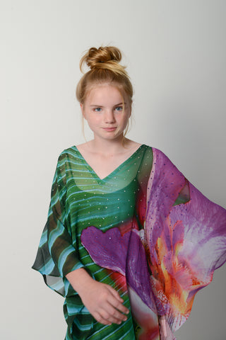 Emerald Peacock Kids Kaftan * Limited Stock *