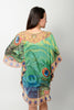 EMERALD PEACOCK BALLOON KAFTAN