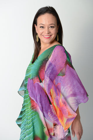 Exotic Peacock Kaftan