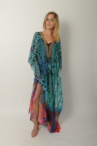 ROYAL SNAKE LONG KAFTAN