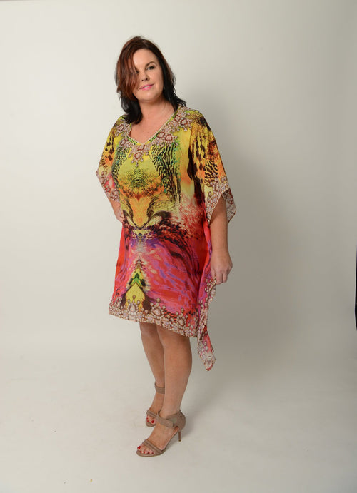 Ruby Sunrise Kaftan * Limited Stock * - GlamTanz Kaftans & Resortwear Sydney Australia