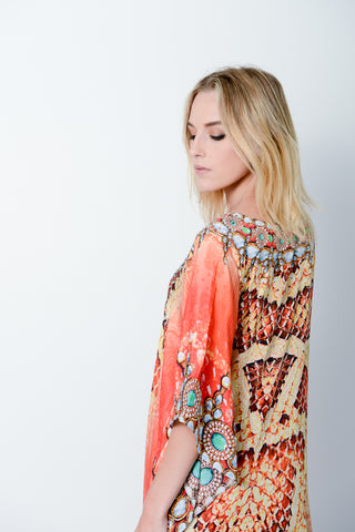 SNAKE GODDESS LONG KAFTAN