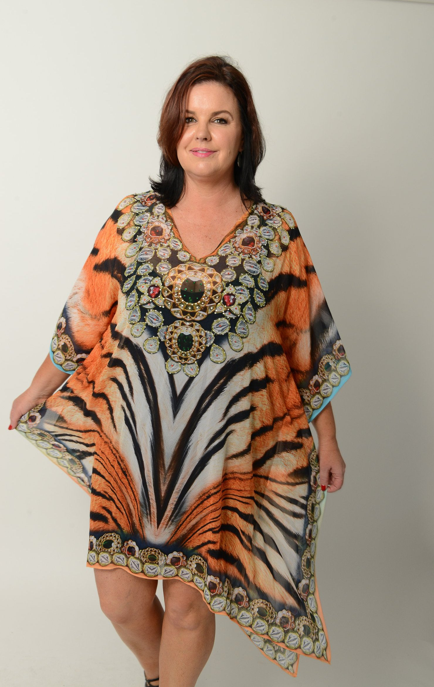 Tribal Tiger Kaftan * Limited Stock * - GlamTanz Kaftans & Resortwear Sydney Australia