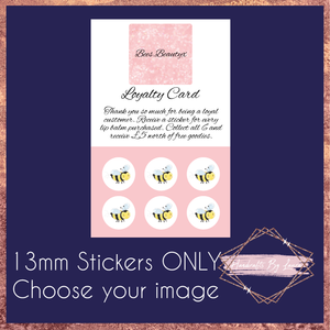 13mm Stickers ONLY for Loyalty Cards