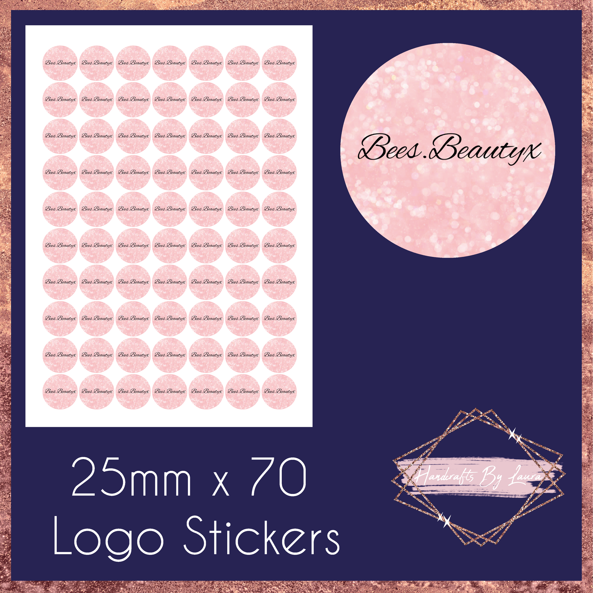 25mm Logo Stickers