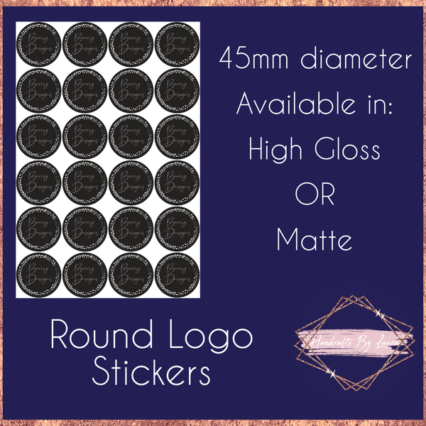 Round Logo Stickers 45mm
