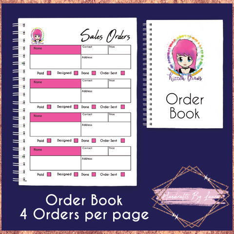 A5 Order Book - 4 Orders per Page