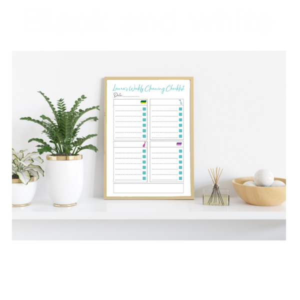 Personalised Cleaning Dry Wipe Checklist