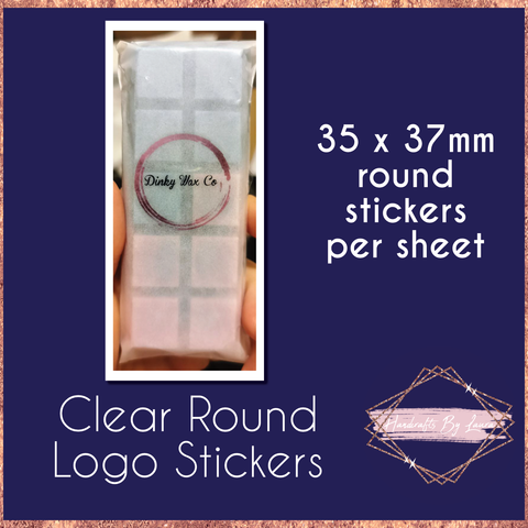 Round Clear Logo Stickers