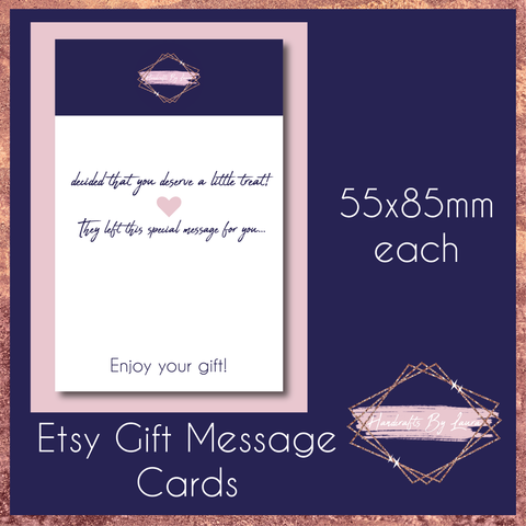 Etsy Gift Message Cards