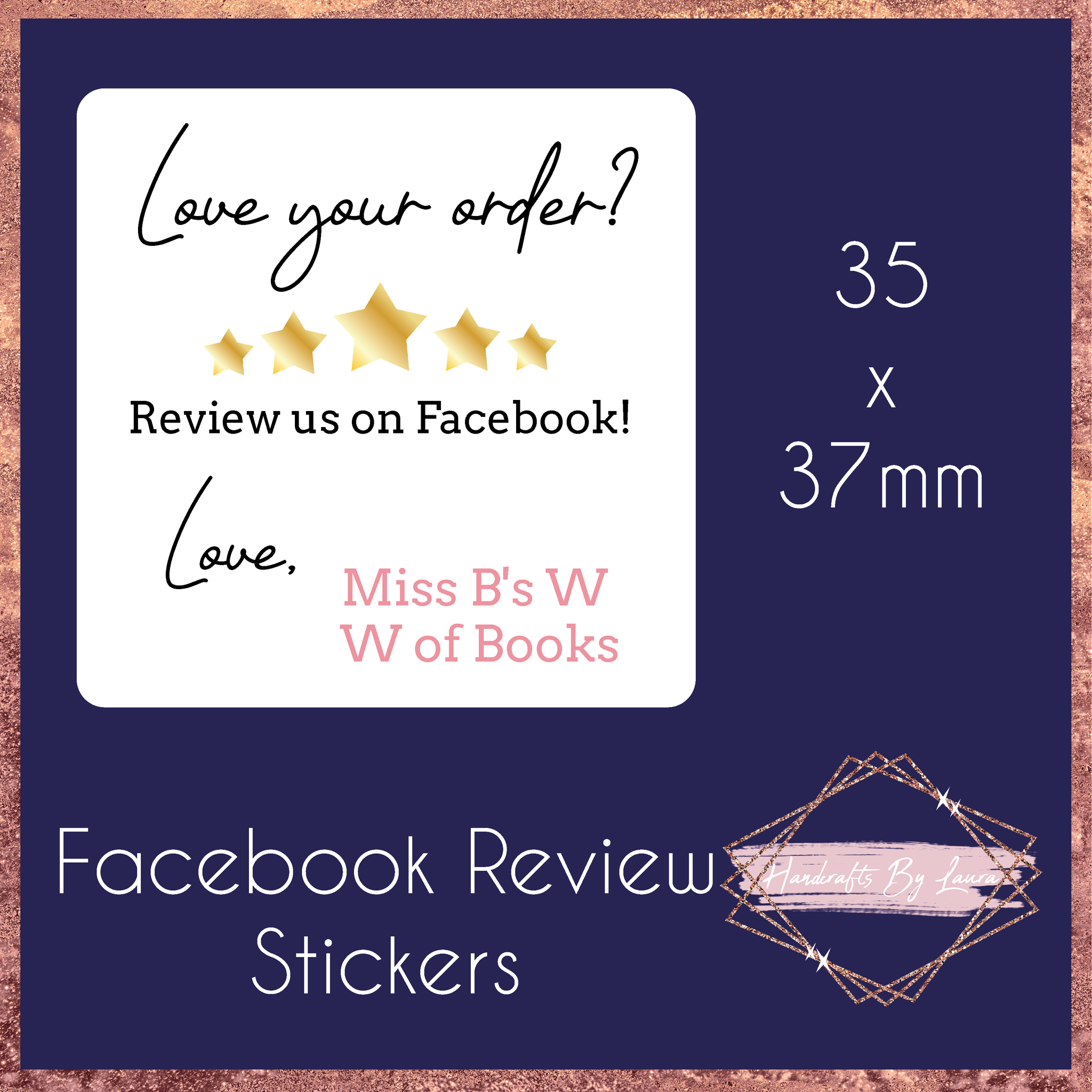 Facebook Review Stickers