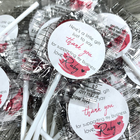 Branded Business Thank You Lollipops