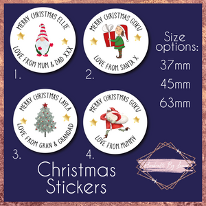 Children's Personalised Santa Christmas Gift Stickers