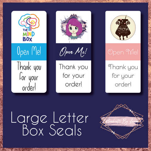 Large Letter Box Seal Labels - New and Improved!