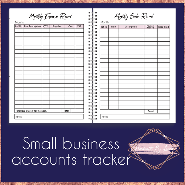 Small Business Accounts Tracker