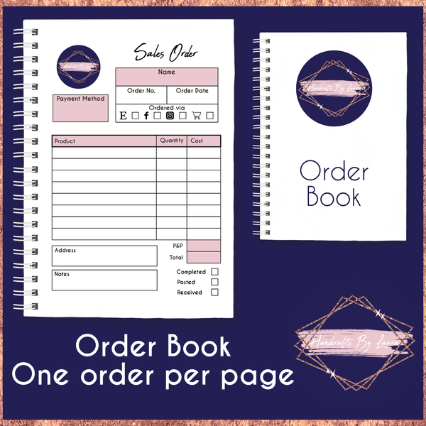 A5 Order Book - 1 Order per Page