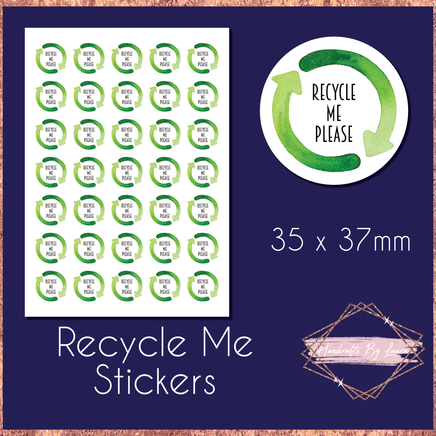 Biodegradable Recycle Me Stickers