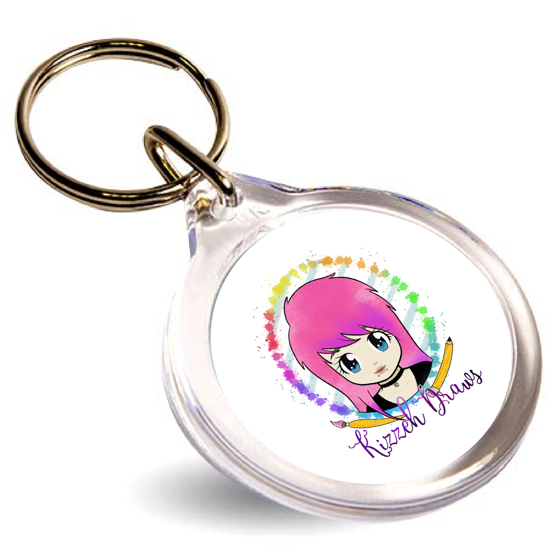 Round 33mm Branded Keyring