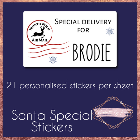 Children's Personalised Special Delivery Christmas Gift Stickers