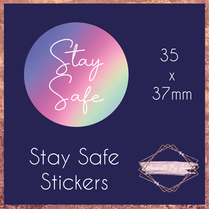 Rainbow Stay Safe Stickers